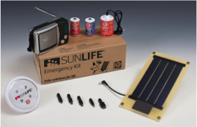 Sunlife emergency kit - solar power for emergencies