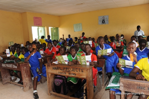 School Kids in Nigeria Malaria Training by Julius Berger