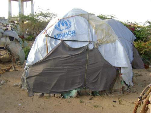 Shelter IDPs Somalia refugee camp